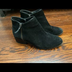 Cole Han black suede ankle boots